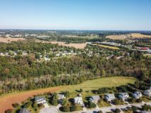 Free Aerial Of New Freedom And Surrounding Farmland In Southern Penns Royalty Free Stock Photo - 106116905