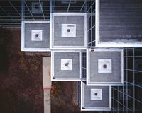 Aerial of Office Building stock photo