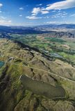 Aerial of the Okanagan valley and Spotted Lake, BC, Canada royalty free stock photography