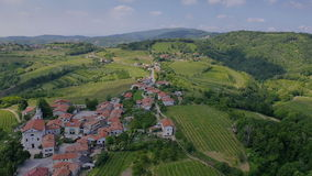 AERIAL: Old houses in wine country stock video