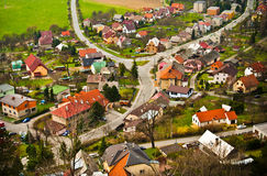 Aerial old town panorama Royalty Free Stock Images