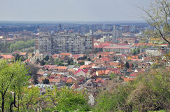 Aerial Oradea city stock photo