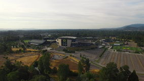 Aerial Oregon Newport Beach stock footage