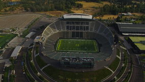 Aerial Oregon Newport Beach stock video