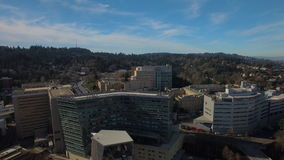 Aerial Oregon Portland OHSU stock video