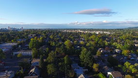 Aerial Oregon Portland. Aerial video of SE Portland during the day