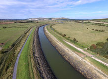 Aerial Ouse River, Sussex. Aerial view of the Ouse River, Sussex Stock Photo