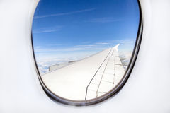 Aerial out of an aircraft window Royalty Free Stock Photo