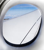 Aerial out of an aircraft window Stock Photo