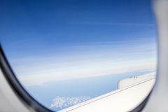 Aerial out of an aircraft window Stock Photos