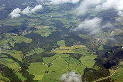 Aerial over the beautiful rural landscape Stock Photography