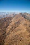 Aerial over Chile. Chilean Mountains Surrounding the Atacama Desert stock image