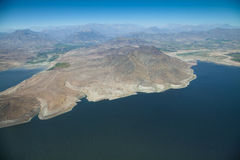 Aerial over Chile. Aerial panoramic of Chile royalty free stock photo