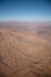 Aerial over Chile. Aerial panoramic over the South America country of Chile royalty free stock photos