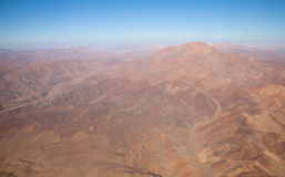 Aerial over Chile. Aerial panoramic over the South America country of Chile Stock Image