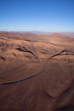 Aerial over Chile. Aerial panoramic over the South America country of Chile Royalty Free Stock Images