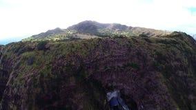 Aerial over Diamond Head in Honolulu, Hawaii stock footage