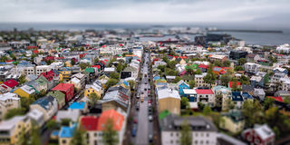 Aerial over Reykjavik, Iceland Royalty Free Stock Images