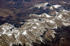 Aerial Over the Rocky Mountains 2. Aerial view flying over the Rocky Mountains New Mexico 2 royalty free stock image