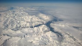 Aerial over the Swiss Alps Stock Photo