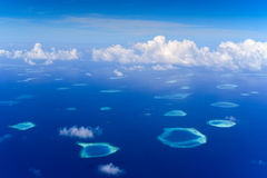 Aerial overhead of Rafa Atoll Royalty Free Stock Photos