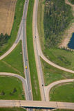 Aerial Overpass. An overpass as part of a highway on ramp Stock Images