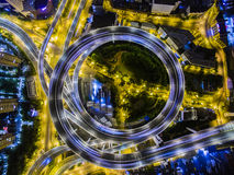 Aerial Overpass Shanghai Nanpu Bridge China Royalty Free Stock Image