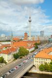 Aerial overview of Berlin. Germany on a cloudy day stock photos