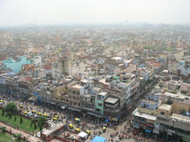 Aerial overview the centre of Old Delhi, India. Stock Photos