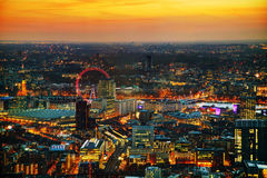 Aerial overview of London royalty free stock photo