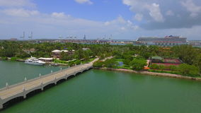 Aerial Palm Island Miami Beach stock video