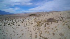 Aerial of Palm Springs desert. Aerial of desert near Palm Springs California stock footage