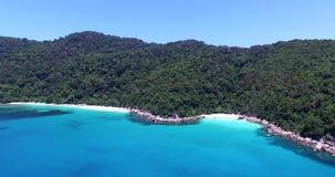 Aerial pan of Perhentian island stock footage