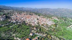 Aerial Pano Lefkara, Larnaca, Cyprus Stock Photos