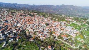 Aerial Pano Lefkara, Larnaca, Cyprus Stock Image