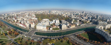 Aerial panorama. Aerial  panorama view in Bucharest Royalty Free Stock Photography
