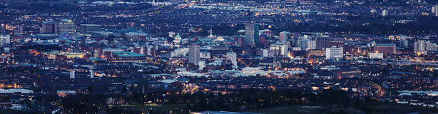 Aerial panorama of Belfast Stock Image