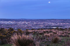 Aerial panorama of  Belfast Royalty Free Stock Images