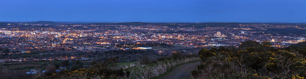 Aerial panorama of  Belfast Royalty Free Stock Image