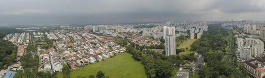 Aerial Panorama of Bishan - Ang Mo Kio Park and Estate royalty free stock photography