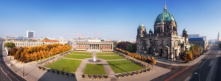 Aerial panorama of Central Berlin Stock Photography