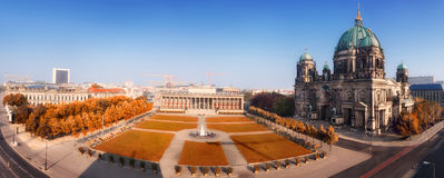 Aerial panorama of Central Berlin Royalty Free Stock Photography