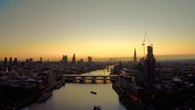 Aerial panorama of central London stock video