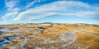 Aerial panorama of Colorado foothills Stock Image