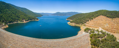 Aerial panorama of Dartmouth dam, Australia Stock Images