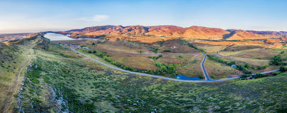 Aerial panorama of foothills at Fort Collins Stock Photography