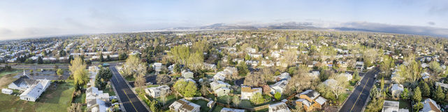 Aerial panorama of Fort Collins, Colorado Royalty Free Stock Photo