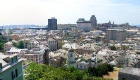Aerial panorama of Genoa, Italy Royalty Free Stock Photo