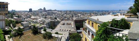 Aerial panorama of Genoa, Italy Stock Photography
