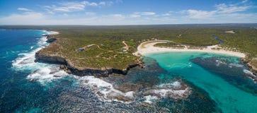 Aerial panorama of Hanson bay ans South West River. Kangaroo Isl Royalty Free Stock Photo